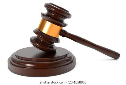 3D illustration court verdict