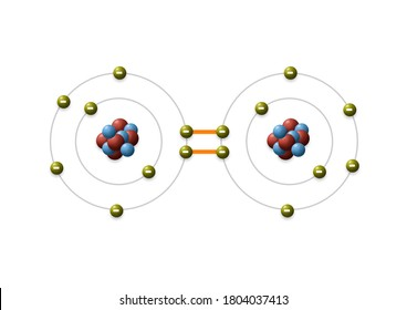 3d illustration, A covalent bond also called molecular bond, is chemical bond that involves sharing of electron pairs between atoms. These electron pairs are known as shared pairs or bonding pairs.