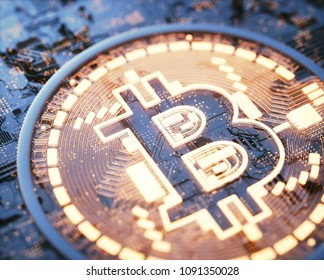 3D illustration. Cryptocurrency bitcoin business. Cryptocurrency digital money. Global business network market, modern currency exchange peer to peer. Financial business concept.