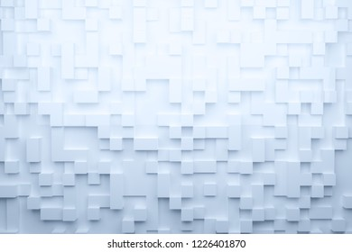 3D illustration Cubic pattern background.