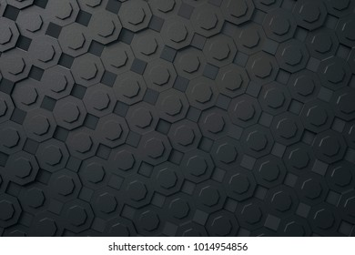 3d illustration of a dark gray abstract background