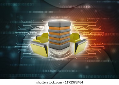 3d illustration of Data sharing concept