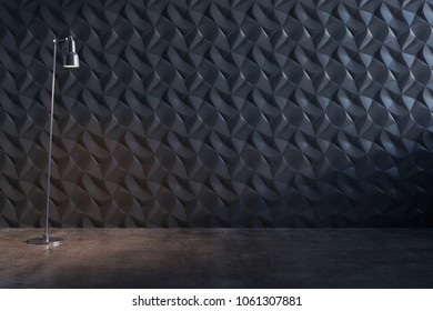 3D illustration of the decorative wall