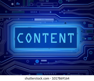 3d illustration depicting printed circuit board components with a content concept.