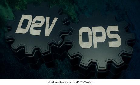 3D Illustration: Development & Operations (DevOps)