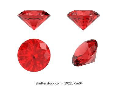 3d illustration of diamond isolated