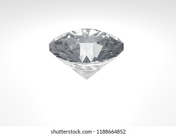 3d illustration of diamond in white background