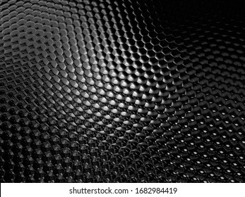 3D illustration. Digital effects. Monochrome abstract background. Black and white pattern. Halftone texture.