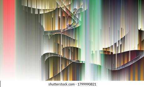 3D illustration. Digital effects. Multicolor abstract background. Colorful pattern. Creative graphic design for poster, brochure, flyer and card. Unique wallpaper. Backdrop for web and fabric.
