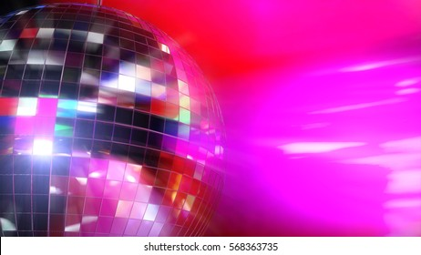 3D Illustration - Disco ball