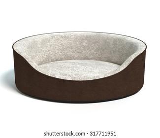 3d illustration of a dog bed