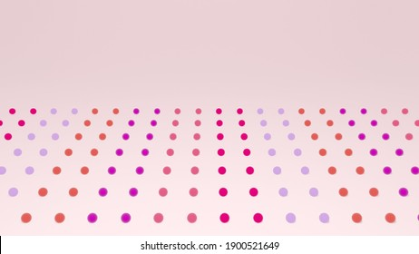 3D illustration of dots on pink background
