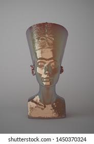 Nefertiti Bust Images, Stock Photos & Vectors | Shutterstock