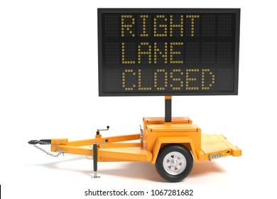 3d illustration of an electronic traffic sign