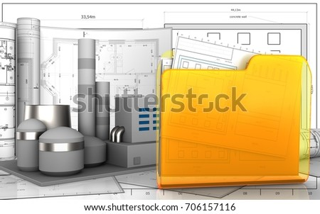royalty free stock illustration of 3 d illustration factory drawings rh shutterstock com