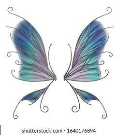 3d illustration of fairy wings
