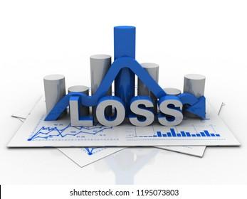 3d illustration Financial crisis concept, Economic Crisis. Business concept
