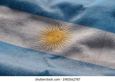 3d illustration flag of Argentina. close up waving flag of Argentina. flag symbols of Argentina.