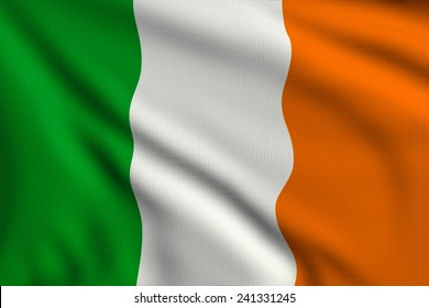 3d illustration flag of Ireland
