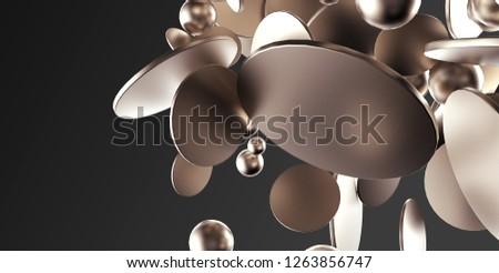 3d illustration of flat