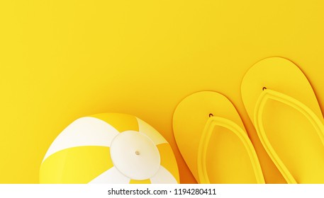 38ceaa04b 3 D Illustration Beach Ball On Yellow Stock Illustration 1199481046 ...