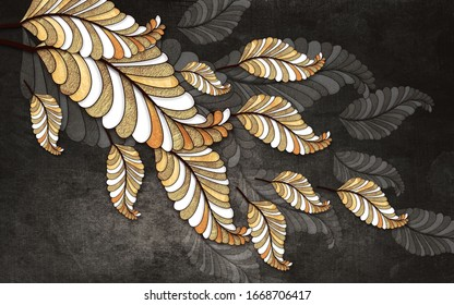 3d illustration of flower, 3d background for wall wallpapers