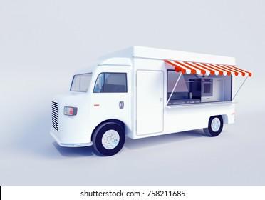3D illustration of food truck