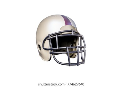 3d illustration of a football helmet isolated on white background