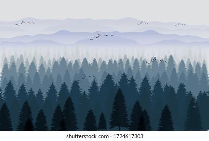 3d illustration of forest image
