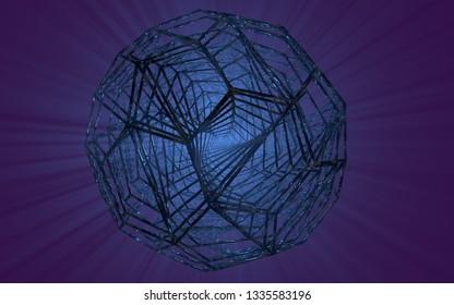 3d illustration fractal bukibol.