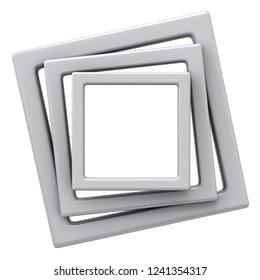 3D illustration frames
