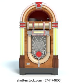 3d illustration of the front of a jukebox