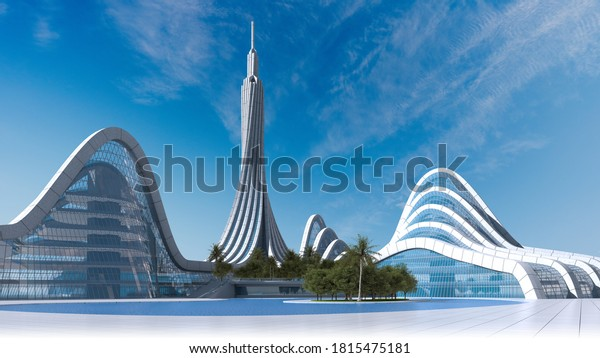 3d-illustration-futuristic-city-architec