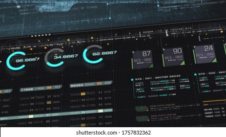 3d illustration, Futuristic digital generated motion abstract matrix cyber environment big data analytic artificial intelligent simulation for digital background