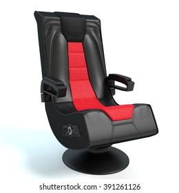 3d illustration of a gaming chair.