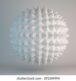 3d illustration of geometric shapes design