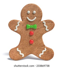 3d illustration of a Gingerbread Man
