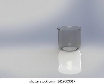 3D Illustration of a Glass