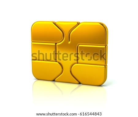 3 D Illustration Gold Business Credit Debit Stock Illustration