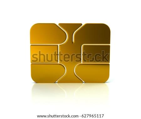 3 D Illustration Gold Credit Debit Card Stock Illustration 627965117