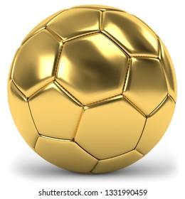 3D illustration golden football