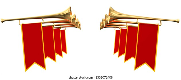 Goldene Trompeten für 3D-Illustrationen