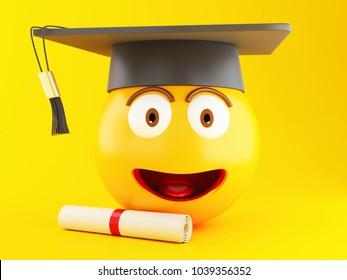 Graduation Emoji Images, Stock Photos & Vectors | Shutterstock