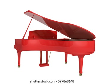 3D illustration Grand piano on a white background