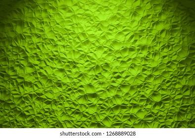 3D Illustration - green brilliant triangle pattern Background 1