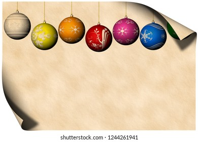 3D illustration. Greeting card. Merry Christmas with space for text.