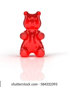 3D illustration of  gummy bear