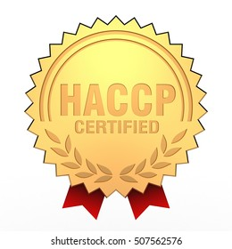 3D Illustration of HACCP Certified Seal