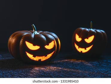 3D illustration Halloween pumpkins