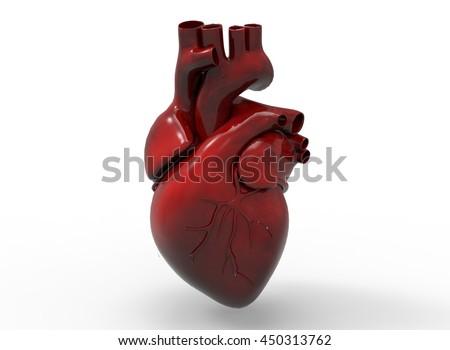 3 D Illustration Heart Icon Game Web Stock Illustration 450313762